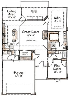 Two-Bedroom Home Plan with Options - 40526DB | 1st Floor Master Suite, CAD Available, European, PDF, Southern | Architectural Designs