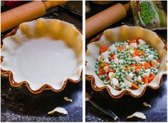 This double crust chicken pot pie is perfect when you're looking for comfort food and don't have all the time and energy in the world to whip it up! Homemade Pie Crusts, Pie Crust Recipes, Double Crust Chicken Pot Pie Recipe, Pie Crust Dough, Sallys Baking Addiction, Crusted Chicken, Pie Dish, Pop Tarts, Chicken Recipes