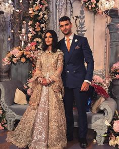 Ananya Malhotra made a spectacular bride Indian Wedding Gowns, Asian Wedding Dress, Indian Bridal Outfits, Asian Bridal, Pakistani Wedding Dresses, Indian Dresses, Walima Dress, Desi Wedding, Reception Gown
