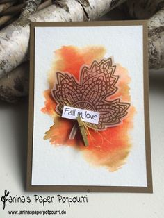 jpp - Fall in love Card / Herbst Karte / Stampin' Up! Berlin / Blättertanz / Lighthearted Leaves / Pergamentpapier / Vellum  www.janinaspaperpotpourri.de