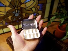 I am making this! Sculpey clay in an altoid tin...just fill with watercolors.