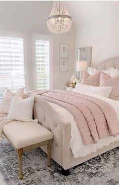 Modern and Small Bedroom Interior Design Ideas ! Part bedroom ideas; bedroom ideas for small room; Dream Rooms, Dream Bedroom, Home Decor Bedroom, Modern Bedroom, Contemporary Bedroom, Couple Bedroom Decor, Blush Bedroom Decor, Bedroom Interiors, Pink Home Decor
