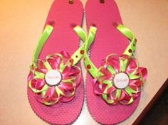 This is not something we have but so cute! Thirty One Flip flops
