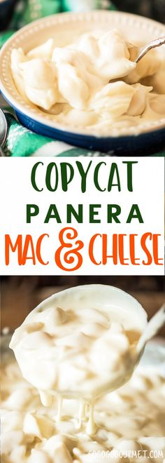 This Copycat Panera Mac and Cheese is made with two kinds of cheese for a supremely creamy taste. A perfect easy homemade mac and cheese recipe! via @gogogogourmet
