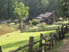 An old farm at Twin Falls Resort in Mullens Wv