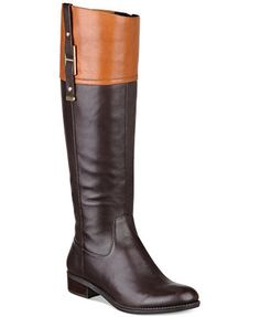 chocolate brown Tommy Hilfiger Women\u0027s Gibsy Tall Riding Boots