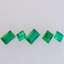 1.09ct Baguette Cut Zambian Emerald Parcel