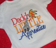Daddy's Little Apprentice Electrician Applique Shirt by momof5hs63, $22.00