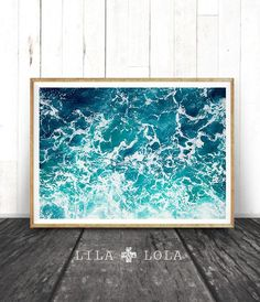Ocean Print, Ocean Art, Ocean Waves Wall Art Print, Ocean Water, Large Printable Poster, Beach and C