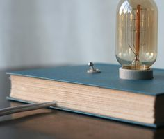 Hardback+Book+Lamp++Reading+Light+by+TypewriterBoneyard+on+Etsy