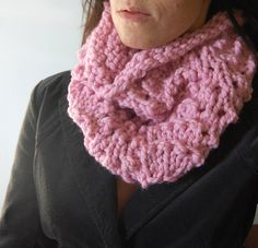 pink lace cowl by LilibethsGarden, via Flickr
