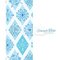 Vector Abstract Blue Doodle Rhombus Vertical Frame Seamless Pattern Background royalty-free stock vector art