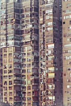 Apartment buildings in Cairo, Egypt. Such a sight! I can hear the sounds of big, busy Cairo!
