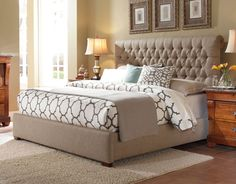 Upholstered Belmar Upholstered Bed with Button-Tufted Headboard by Kincaid Furniture at Becker Furniture World Upholstered Bedroom Set, Bedroom Sets, Home Bedroom, Bedroom Decor, Master Bedroom, Bedrooms, Dream Bedroom, Master Suite, Large Furniture