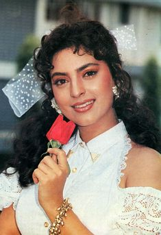 Bollywood Posters, Bollywood Cinema, Bollywood Actors, Bollywood Celebrities, Bollywood Quotes, Most Beautiful Bollywood Actress, Beautiful Actresses, Juhi Chawla, Star Actress
