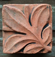 """Victorian Decorative brick """"Single leaf"""" design copy of Century decorative terracotta square wall tile hand cast from originals Brick Tiles, Wall Tiles, Brick Crafts, Leaf Design, Architecture Details, Terracotta, Sweet Home, Home And Garden, Carving"""