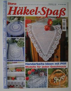 3 x Häkelspass made by NadelTrend-Shop via DaWanda.com Crochet Book Cover, Crochet Books, Crochet Art, Thread Crochet, Filet Crochet, Knitting Magazine, Crochet Magazine, Crochet Tablecloth, Crochet Doilies