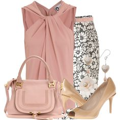 Breathtaking Floral Outfit Ideas for All Seasons 2018 - The Best Floral Outfits Mode Outfits, Office Outfits, Fashion Outfits, Womens Fashion, Fashion Trends, Office Attire, Business Outfits, Business Attire, Business Fashion