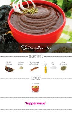 En estas fiestas patrias no puede faltar una deliciosa salsa colorada. ¡Anímate a prepararla! #Tupperware #Recetas #Cocina