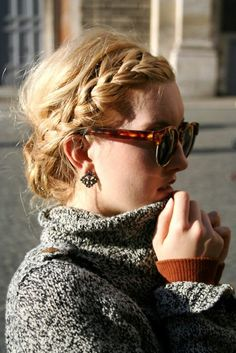Side Braid Messy Bun