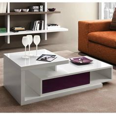Modern coffee table - transformer with drawer for storage Mary by La Primavera. Stylish and simple, perfect for any modern styled living room 4 Centre Table Design, Sofa Table Design, Corner Sofa Design, Coffee Table Design, Coffe Table, Centre Table Living Room, Table Decor Living Room, Center Table, Home Decor Furniture