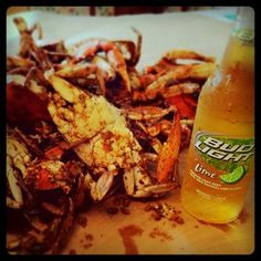 Colonial Beach Crabs Beer Family Enough Said Steamed
