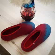 Wooppers woolen slippers (@wooppers) • Instagram photos and videos Felted Wool Slippers, My Glass, Wool Felt, Told You So, Vase, Crystals, Videos, Photos, Inspiration