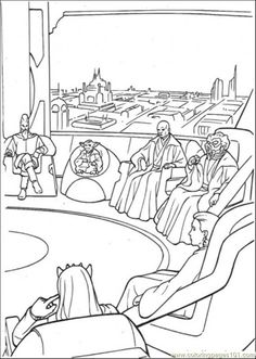 Coloring Pages Star Wars Meeting 1 Cartoons
