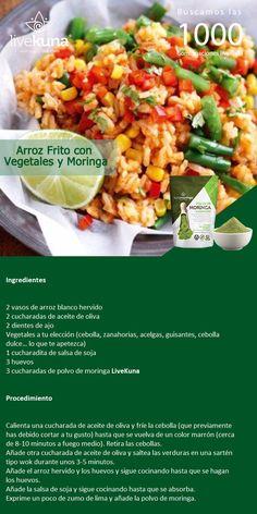 Prueba las nuevas opciones para comer tu moringa, esta vez arroz frito con vegetales y moringa