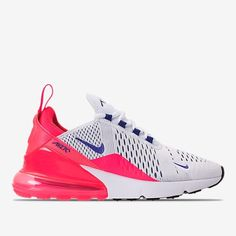 Right view of Women s Nike Air Max 270 Casual Shoes in White Ultramarine Solar  Red a3901c720
