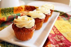 The Comfort of Cooking » Moist Carrot Cupcakes with Cream Cheese Frosting