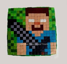 """Minecraft cake! Herobrine with sword made by """"Meridian Sweets and Treats"""" #minecraft  https://www.facebook.com/MeridianSweetsAndTreats/"""