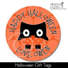 Halloween Gift Tags with Owls 13