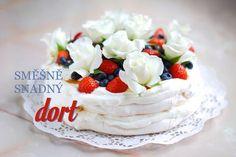 Mám pro vás recept na slavnostní a přesto jednoduchý dort, který se skládá ze tří (slovy tří!) levných a snadno dostupných surovin. Ukážu vám dort, který je nádherný za všech okolností, dokonce bez ohledu na... Pavlova Cake, Mini Pavlova, Best Cookie Recipes, Cake Recipes, Dessert Recipes, Oreo Cupcakes, Cupcake Cakes, My Dessert, Sweet Desserts