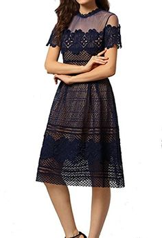 Celebritystyle navy embroidered midi dress XS *** Check out the image by visiting the link. Note: It's an affiliate link to Amazon.