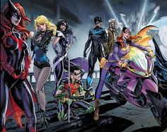Nightwing, Robin and the Birds of Prey by J. Batwoman, Nightwing And Batgirl, Comic Book Artists, Comic Books Art, Comic Art, Gotham, Batman Art, Batman Comics, Hq Dc