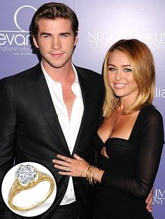 Liam Hemsworth proposed to Miley Cyrus with this 3.5 carat vintage ring.