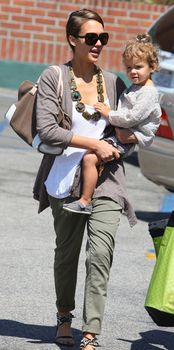 Jessica Alba. Love her style- always has great sunglasses and scarf/ necklace when dressed down and out w her kids.