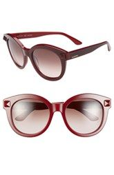 Valentino 'Rockstud' 54mm Semi Oval Cat Eye Sunglasses