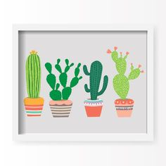 With an effortless modern style, Lucy Darling offers a high-quality southwest cactus art print featuring the Golden Barrel, Emerald Wave, Saguaro, and Prickly Pear cacti. Designed to celebrate life's