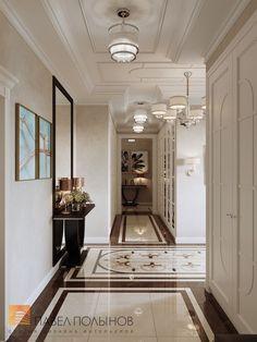 Фото дизайн интерьера холла из проекта «Дизайн четырехкомнатной квартиры в стиле Ар-деко, ЖК Привилегия, 172 кв.м.»