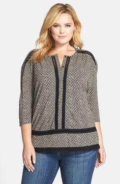 Lucky+Brand+'Blanket+Diamond'+Top+(Plus+Size)+available+at+#Nordstrom