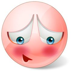 Most people do something at some point to make themselves blush, so don't feel alone! Use this smiley to own up to something you did that, perhaps, you wish you didn't!