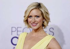 "Brittany Snow formerly of ""Harry's Law"" with a short Bob"