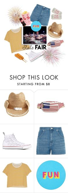 """State Fair Fun"" by afatrustamova ❤ liked on Polyvore featuring Flora Bella, TWIG & ARROW, Converse, Madewell, Monki, Lisa Perry, statefair and summerdate"