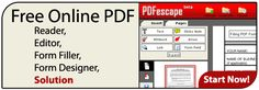 PDFescape - FREE PDF Editor & PDF Form Filler.  Can use to make printables that people can type on before printing.