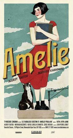 Amélie & Cat poster (d'après le film Amélie Poulain)