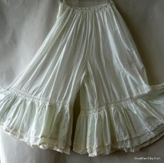 Google Image Result for http://cn1.kaboodle.com/img/b/0/0/136/b/AAAAC0L01ewAAAAAATa3nQ/vintage-white-bloomers-skirt-victorian-pantaloons-culottes-lace-prairie-s-m-l.jpg%3Fv%3D1299692029000