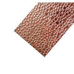 Copper on Aluminium Sheet Hammered 1000 x 500mm No. 105