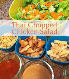 I love this copycat recipe of Panera's Thai Chopped Chicken Salad